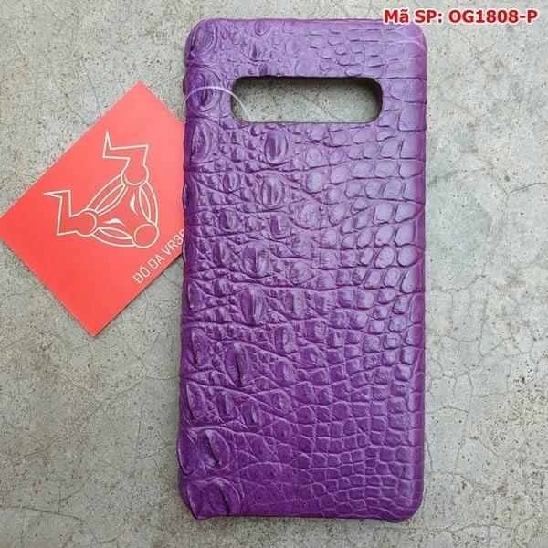Tuidacasau Ốp Lưng Cá Sấu Samsung S10 Plus Trơn Tím OG1808-P (1)