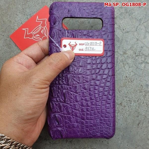 Tuidacasau Ốp Lưng Cá Sấu Samsung S10 Plus Trơn Tím OG1808-P (4)