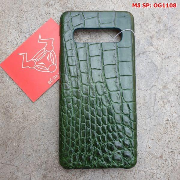 Tuidacasau Op Lung Ca Sau Samsung S10 Plus Tron Xanh La OG1108 (1)