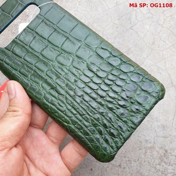 Tuidacasau Ốp Lưng Cá Sấu Samsung S10 Plus Trơn Xanh Lá OG1108 (3)