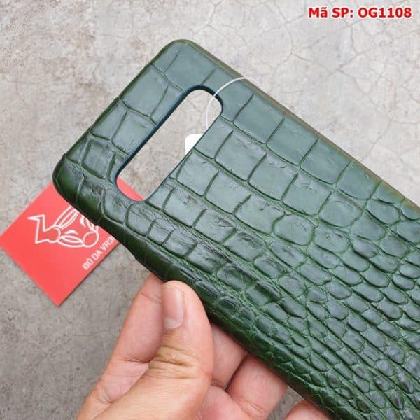 Tuidacasau Op Lung Ca Sau Samsung S10 Plus Tron Xanh La OG1108 (4)
