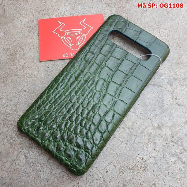 Tuidacasau Op Lung Ca Sau Samsung S10 Plus Tron Xanh La OG1108 (5)