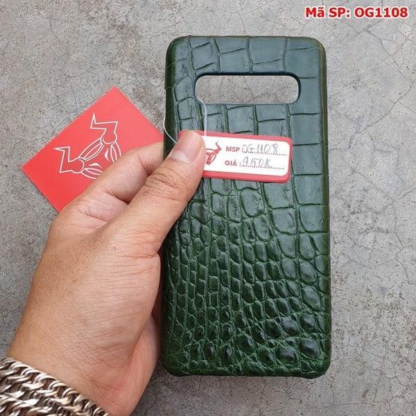 Tuidacasau Ốp Lưng Cá Sấu Samsung S10 Plus Trơn Xanh Lá OG1108 (6)