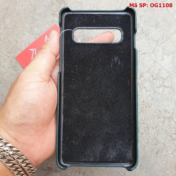 Tuidacasau Ốp Lưng Cá Sấu Samsung S10 Plus Trơn Xanh Lá OG1108 (7)