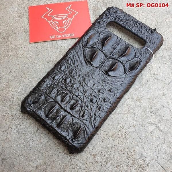 Tuidacasau Ốp Lưng Cá Sấu Samsung S10 Gù Đen OG0104 (2)