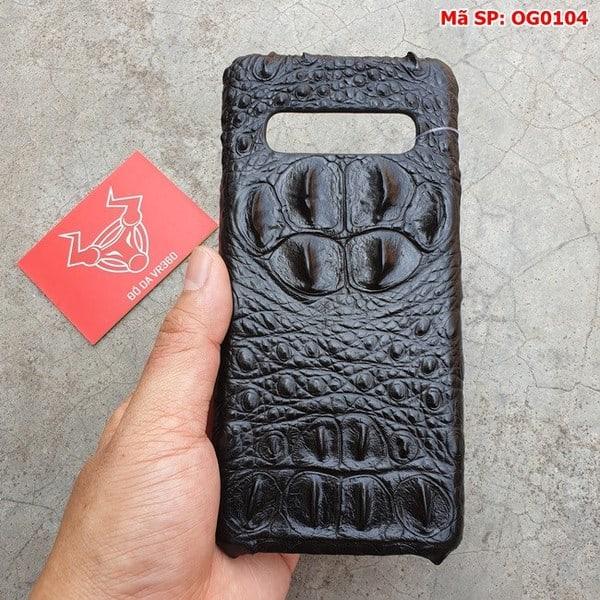 Tuidacasau Ốp Lưng Cá Sấu Samsung S10 Gù Đen OG0104 (3)