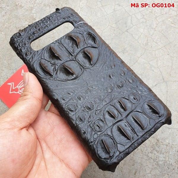 Tuidacasau Ốp Lưng Cá Sấu Samsung S10 Gù Đen OG0104 (4)