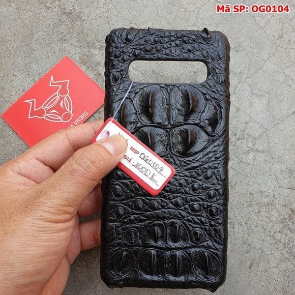 Tuidacasau Ốp Lưng Cá Sấu Samsung S10 Gù Đen OG0104 (5)