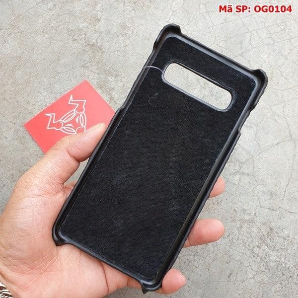 Tuidacasau Ốp Lưng Cá Sấu Samsung S10 Gù Đen OG0104 (6)