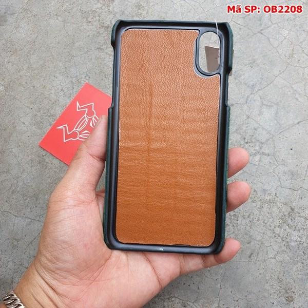 Tuidacasau Ốp Lưng Cá Sấu Thật Iphone 10 Trơn Xanh Vechai OB2208 (6)