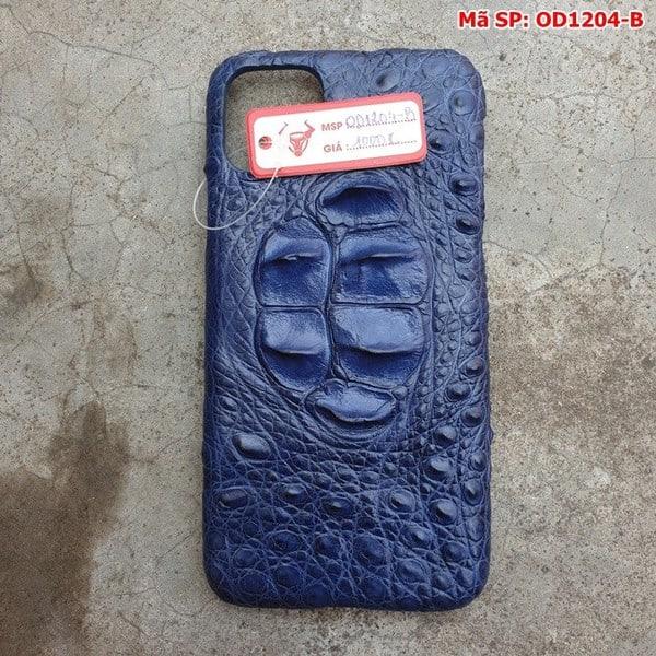 Tuidacasau Ốp Lưng Ip11 ProMax Da Cá Sấu Thật Gù Navy OD1204-B (1)