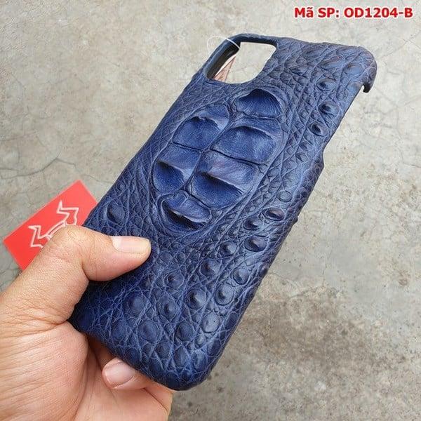Tuidacasau Ốp Lưng Ip11 ProMax Da Cá Sấu Thật Gù Navy OD1204-B (3)