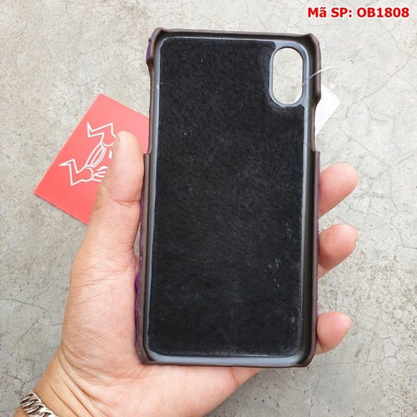 Tuidacasau Ốp Lưng Iphone X Da Cá Sấu Trơn Tím OB1808 (6)