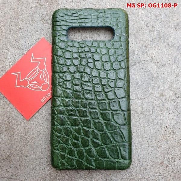 Tuidacasau Ốp Lưng S10 Plus Da Cá Sấu Samsung Trơn Xanh Lá OG1108-P (1)