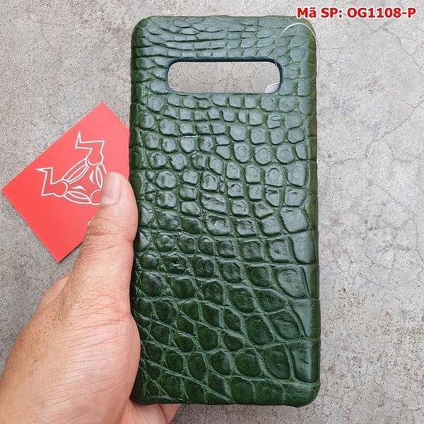 Tuidacasau Ốp Lưng S10 Plus Da Cá Sấu Samsung Trơn Xanh Lá OG1108-P (3)