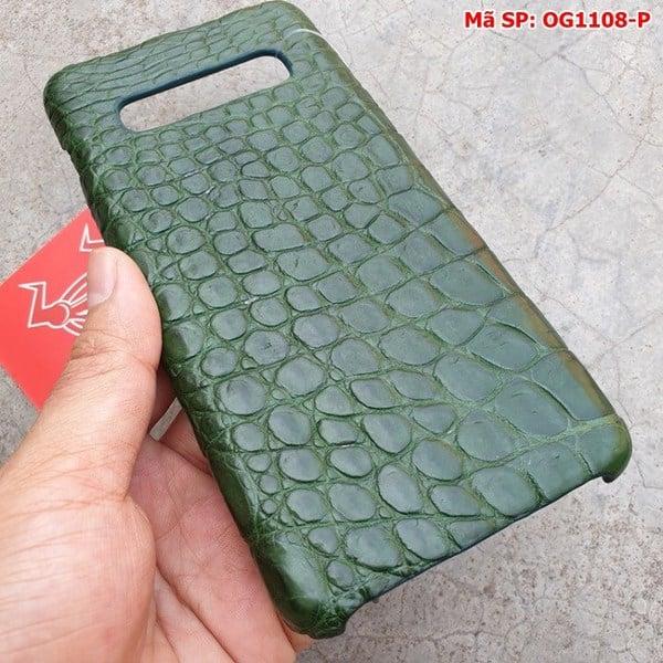 Tuidacasau Ốp Lưng S10 Plus Da Cá Sấu Samsung Trơn Xanh Lá OG1108-P (4)