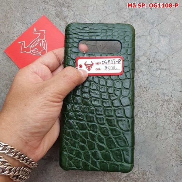 Tuidacasau Ốp Lưng S10 Plus Da Cá Sấu Samsung Trơn Xanh Lá OG1108-P (5)
