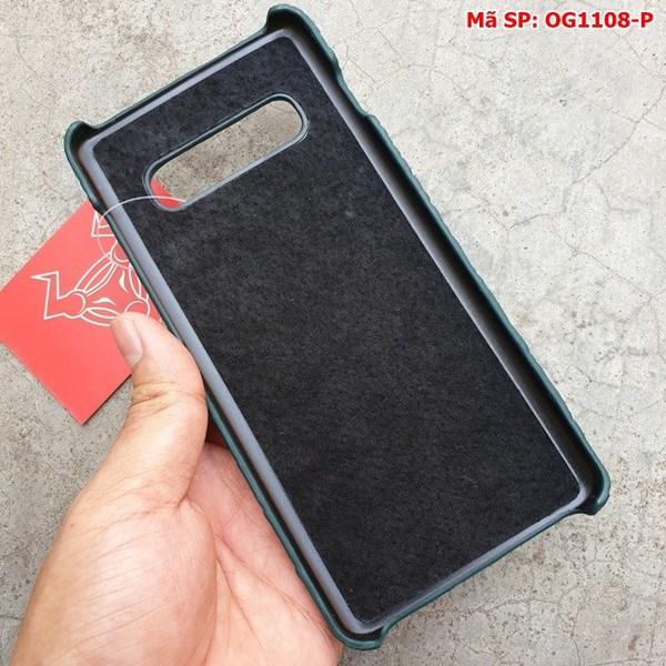 Tuidacasau Ốp Lưng S10 Plus Da Cá Sấu Samsung Trơn Xanh Lá OG1108-P (6)