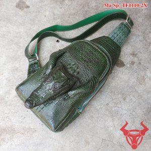 Túi Đeo Chéo Da Cá Sấu Nguyên Con TF11A10-2X