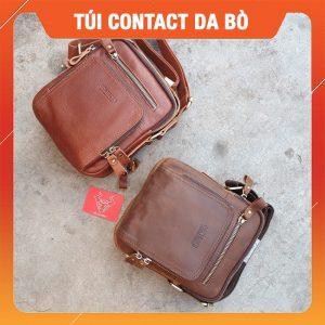 Túi Mini Da Bò Sáp Đẹp Contact15-A