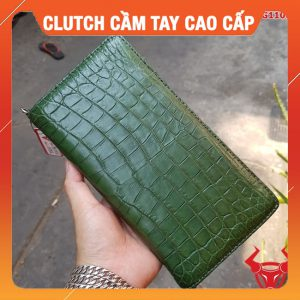 Clutch Cầm Tay Nam Da Cá Sấu