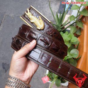 Thắt Lưng Da Cá Sấu Bọc Viền Nối 4cm Khóa Đồng TL2A4B3K29
