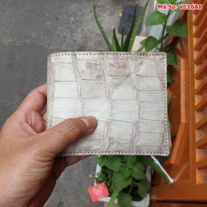 Bóp Nam Da Cá Sấu Bạch Tạng 2 Mặt VC16A8