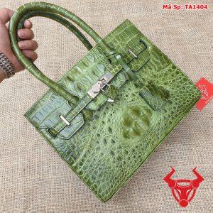 Túi xách nữ đeo chéo da cá sấu gù xanh rêu TA14A4