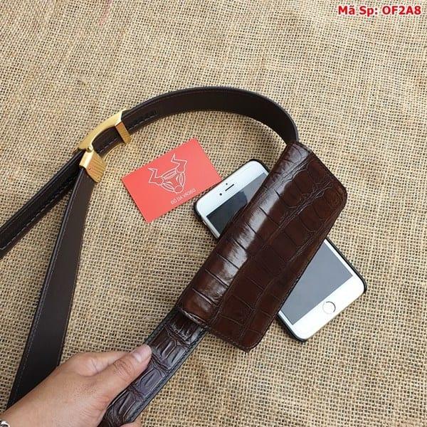 Bao Da Dien Thoai Deo That Lung Nau Den Of2a8 4