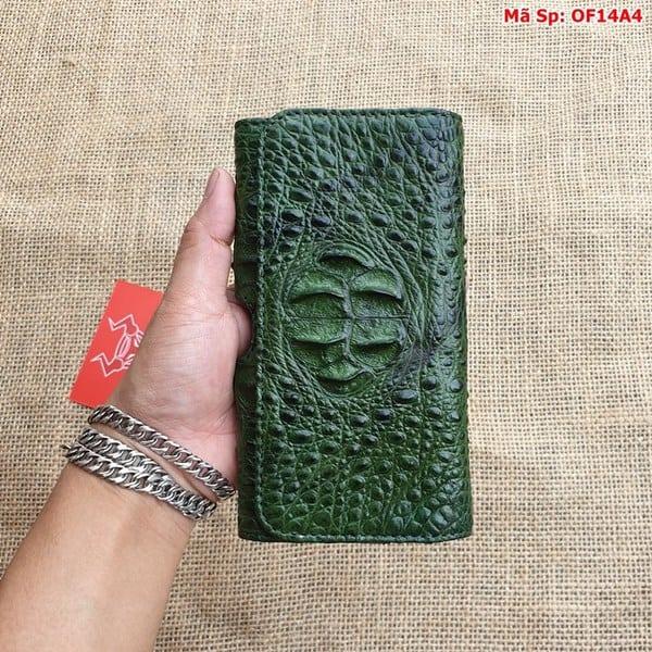 Bao Da Dien Thoai That Lung Xanh Reu Of14a4 4