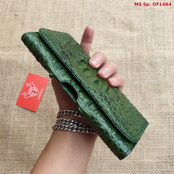 Bao Da Dien Thoai That Lung Xanh Reu Of14a4 6