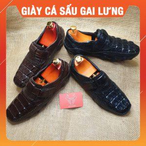 Giày Mọi Da Cá Sấu Mới Gai Lưng GCS23-A