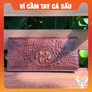 Bóp Cầm Tay Da Cá Sấu Đựng Iphone Gù