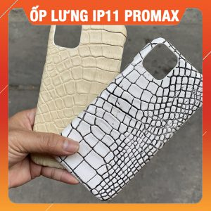 Ốp Lưng Da Cá Sấu Iphone 11Promax Giảm Giá