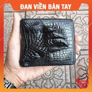 Bóp Cá Sấu Ngang Đan Viền Bàn Tay