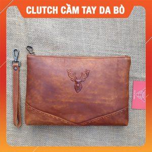 Clutch Cầm Tay Da Bò Cao Cấp CL30