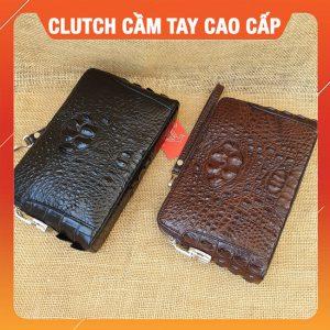 Clutch Cầm Tay Da Cá Sấu Cao Cấp CI