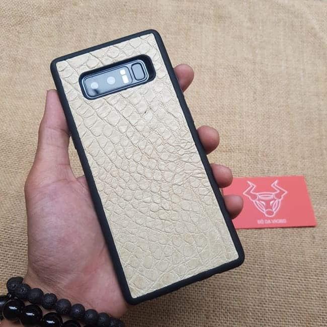 Op Lung Da Da Ca Sau Samsung Note8 Trang Kem