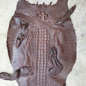 Da Cá Sấu Nguyên Miếng Thuộc Gai Nâu Đất