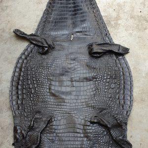 Da Cá Sấu Nguyên Miếng Thuộc Đen