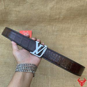 Thắt Lưng Bọc Viền LV Cao Cấp Khoá Kim Bản 4cm