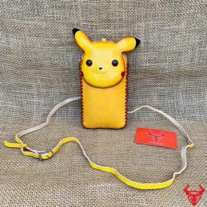 Túi Da Bò Đựng Điện Thoại Nữ Dáng Pikachu TDT12