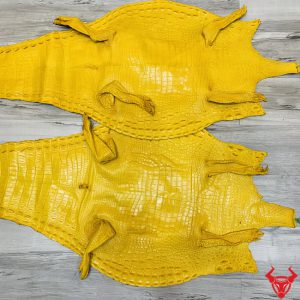 Da Cá Sấu Thật Thuộc Vàng Chanh
