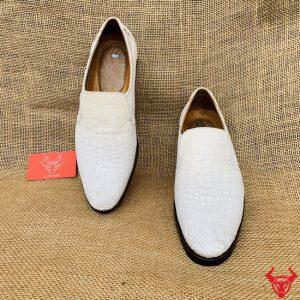 Giày Tây Không Dây Cá Sấu Trơn Hông GBA9