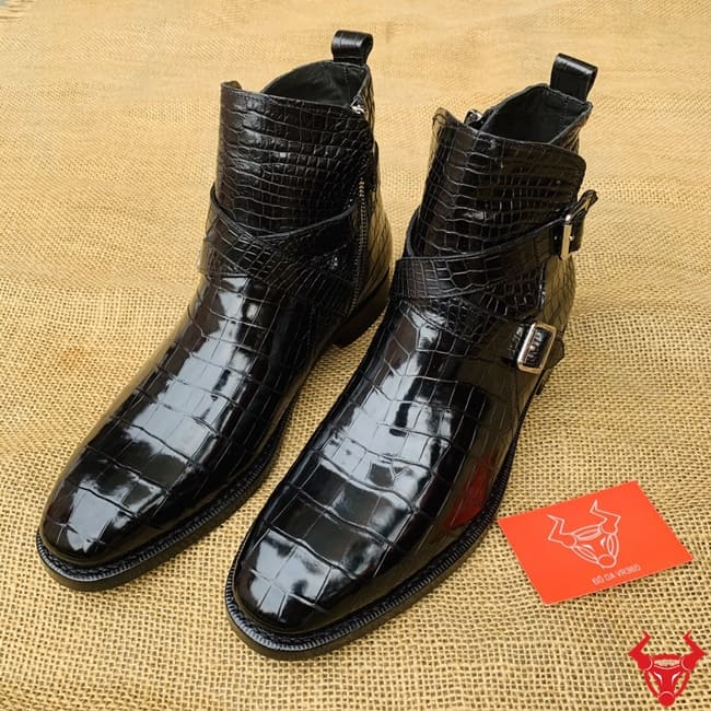 Giay Boot Nam Da Ca Sau Da Bung Gha8 1
