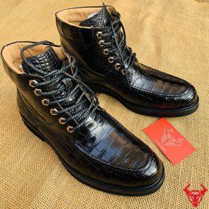 Giày Boot Nam Cá Sấu Da Bụng Cột Dây GJA8